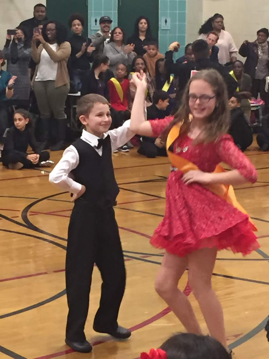 students ballroom dancing