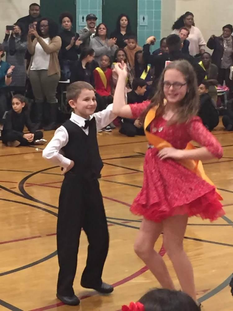 students ballroom dancing