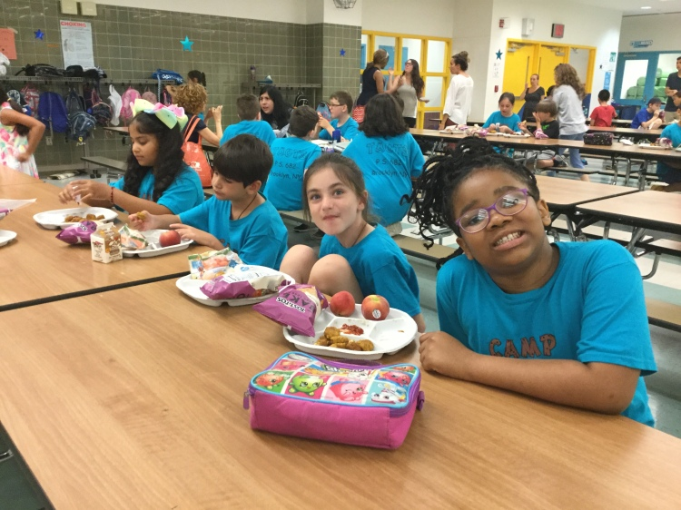 camp clusters lunch