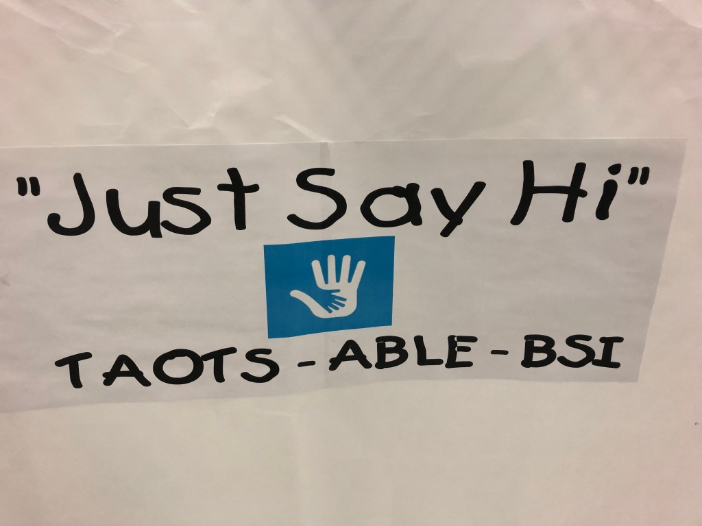 banner at a campus wide event
