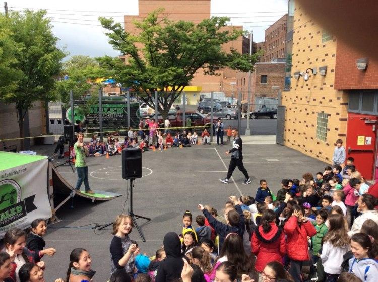 event in the schoolyard